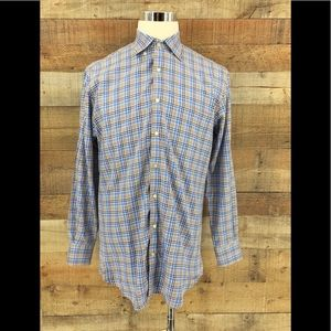 PETER MILLAR Men's Gingham Check SHirt Size M